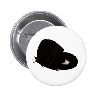 Side butterfly shape with moth pic pinback button