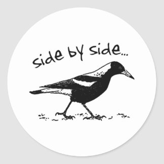 Side by Side Classic Round Sticker