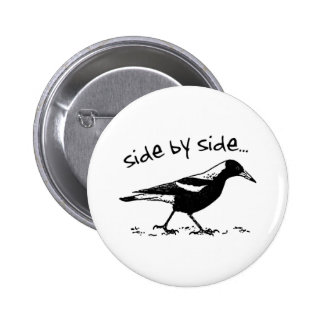 Side by Side Pinback Button