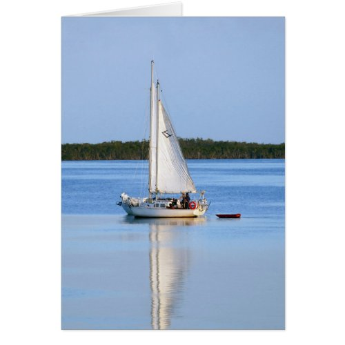 Side by Side Sailboats Card