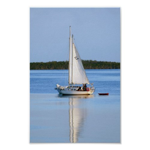 Side by Side Sailboats Poster