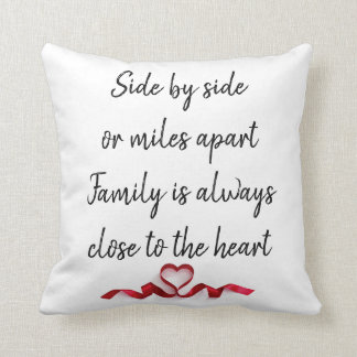 Side by Side (two sided) Family pillow