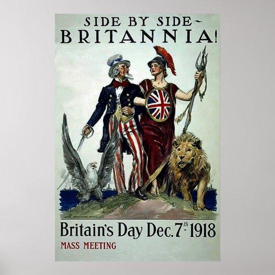 Side by Side~Vintage World War 1 Poster