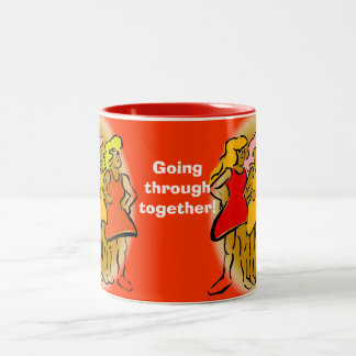 Side by Side Walkers - Going Through Two-Tone Coffee Mug
