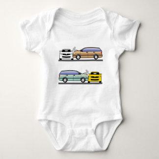 Side car crash baby bodysuit