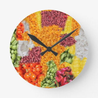 side dishes wall clock