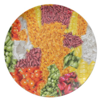 side dishes dinner plate