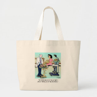Side Effects Cartoon 9486 Large Tote Bag