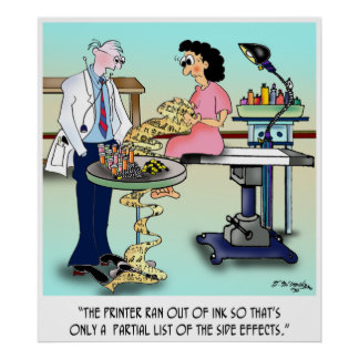 Side Effects Cartoon 9486 Poster