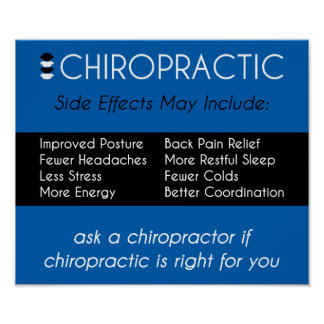 Side Effects of Chiropractic [Blue] Poster