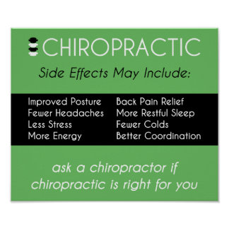 Side Effects of Chiropractic [Green] Poster