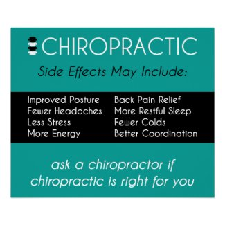 Side Effects of Chiropractic Poster