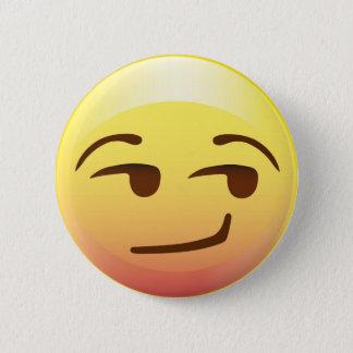 Side Glance Smug Emoji Paper Party Pin