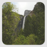 Side of Bridalveil Falls at Yosemite National Park Square Sticker