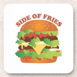 Side Of Fries Beverage Coasters