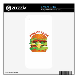 Side Of Fries Decals For The iPhone 4S
