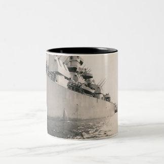 side of military navy ship mug