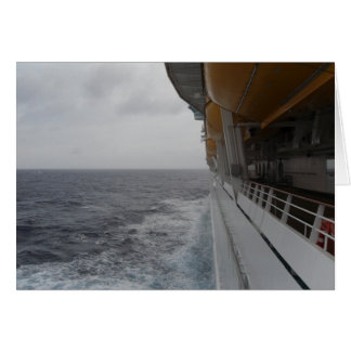 Side of Moving Cruise Ship Photo and  Card by Lore