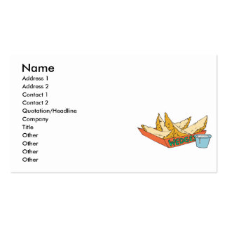 side of potato wedges business cards