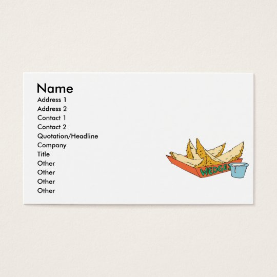 side of potato wedges business card