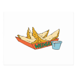 side of potato wedges postcard