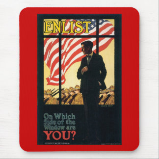 Side Of The Window World War 2 Mouse Pad