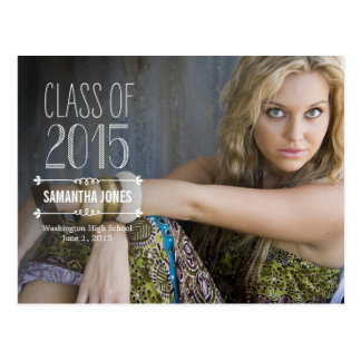 Side Overlay Graduation Announcement Postcard