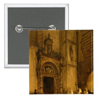 Side portal of Como Cathedral, 1850 2 Inch Square Button