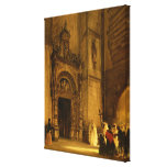 Side portal of Como Cathedral, 1850 Stretched Canvas Prints