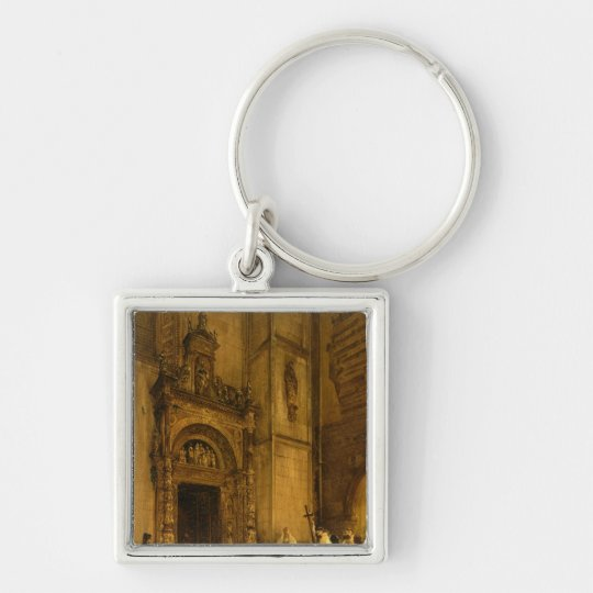 Side portal of Como Cathedral, 1850 Keychain
