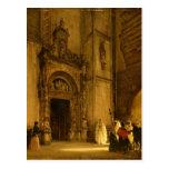 Side portal of Como Cathedral, 1850 Postcard