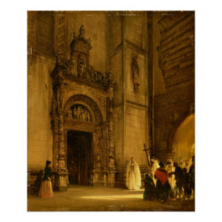 Side portal of Como Cathedral, 1850 Poster