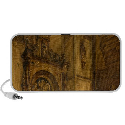 Side portal of Como Cathedral, 1850 iPhone Speakers