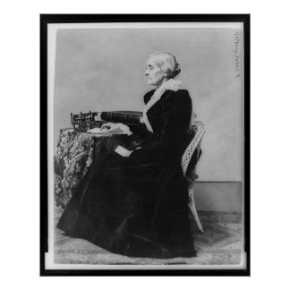 Side Portrait of Susan B. Anthony Poster