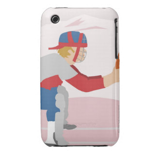 Side profile of a baseball player iPhone 3 Case-Mate case