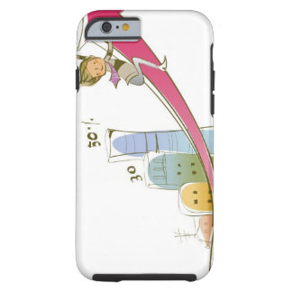 Side profile of a businessman sitting on an tough iPhone 6 case