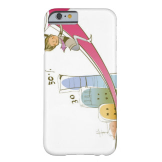 Side profile of a businessman sitting on an barely there iPhone 6 case