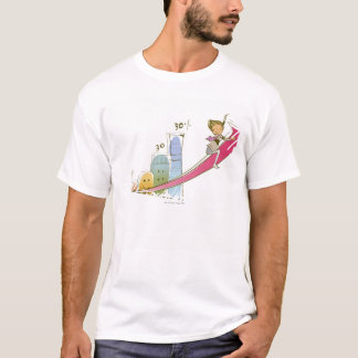Side profile of a businessman sitting on an T-Shirt