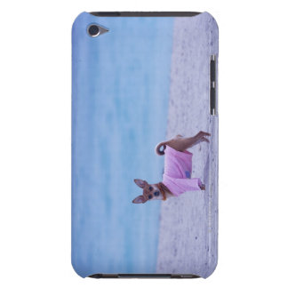 Side profile of a dog standing on the beach, iPod touch case