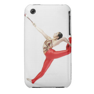 Side profile of a female gymnast practicing Case-Mate iPhone 3 case