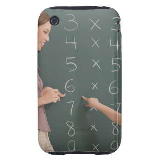 Side profile of a female teacher teaching her iPhone 3 tough cases