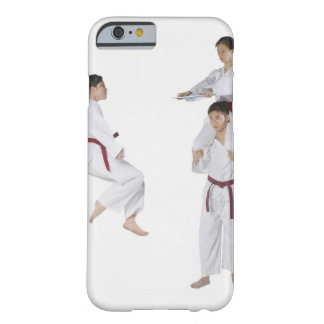 Side profile of a young man practicing 2 barely there iPhone 6 case