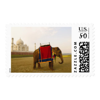 Side profile of an elephant, Taj Mahal, India Postage