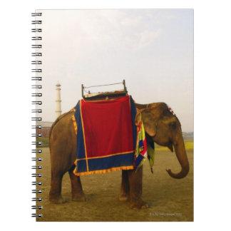 Side profile of an elephant, Taj Mahal, India Spiral Notebook