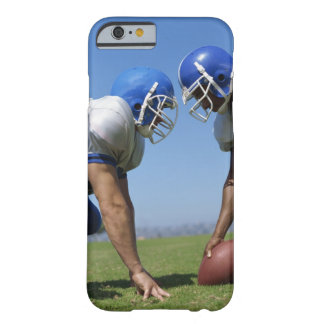 side profile of two football players playing on barely there iPhone 6 case