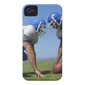 side profile of two football players playing on iPhone 4 Case-Mate case