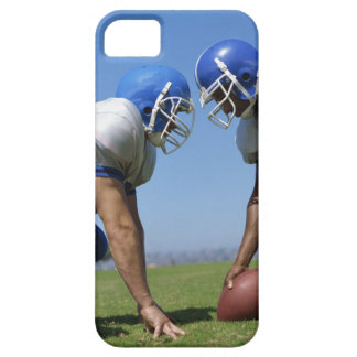 side profile of two football players playing on iPhone 5 case