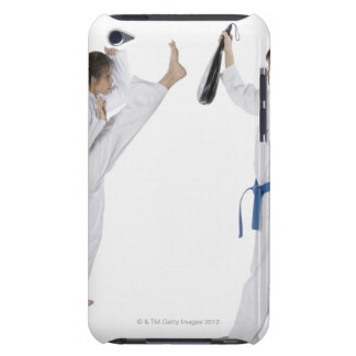 Side profile of two young women practicing Case-Mate iPod touch case