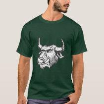 Side Profile Raging Bull Vintage Style Bull T-Shirt