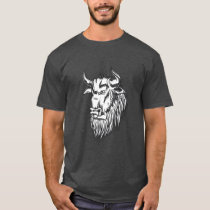 Side Profile Vintage Style Bull T-Shirt